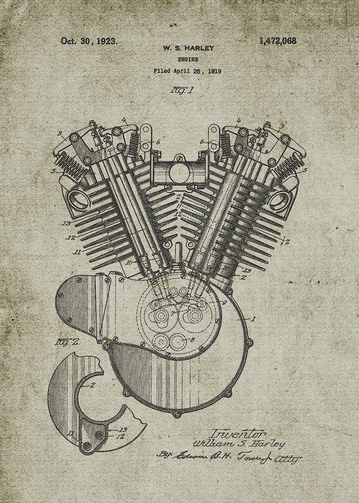 1919 Harley V-Engine - Patents