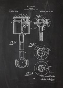 1919 Piston Patent Drawing