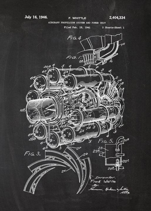 1941 Aircraft Propulsion System - Patents