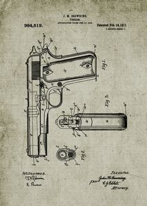 1910 Firearm - Patent Drawing