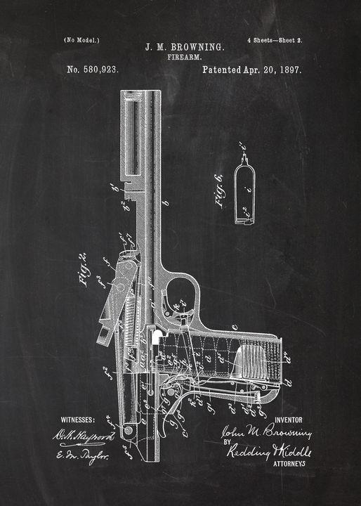 1897 - Firearm - Patent Drawing - Patents