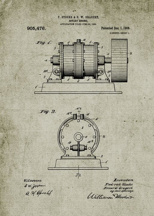1906 Rotary Engine - Patents