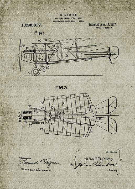 1914 Folding Wing Aeroplane - Patents
