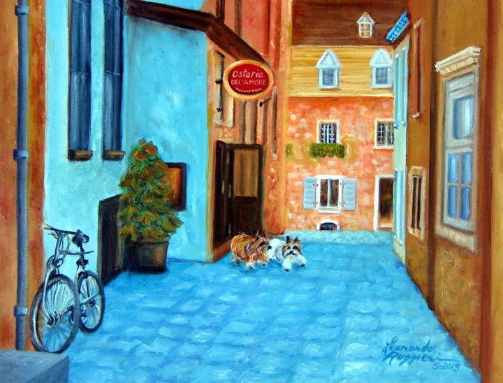 Lunch Date in Italy - Leonardo Ruggieri Fine Art Paintings