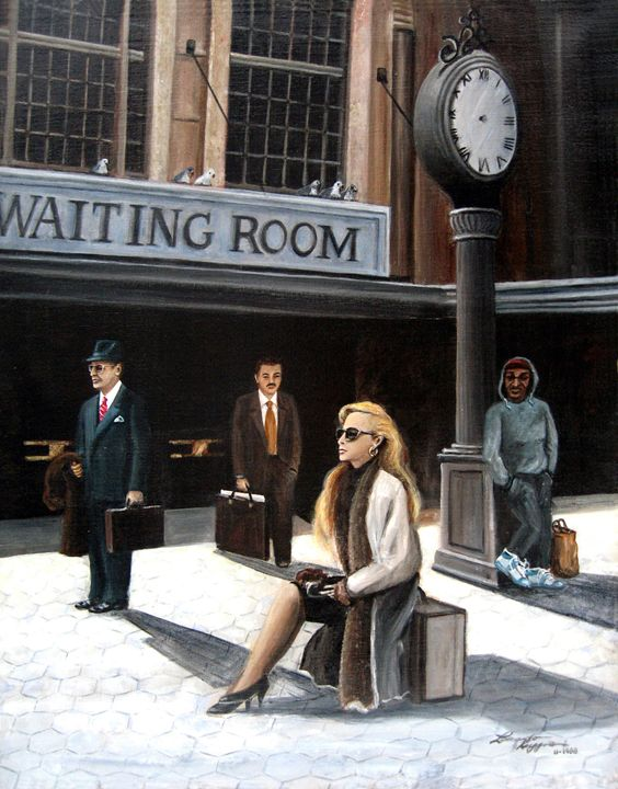 Waiting Room - Leonardo Ruggieri Fine Art Paintings