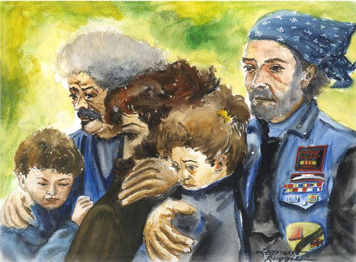 Grieving Veterans - Leonardo Ruggieri Fine Art Paintings