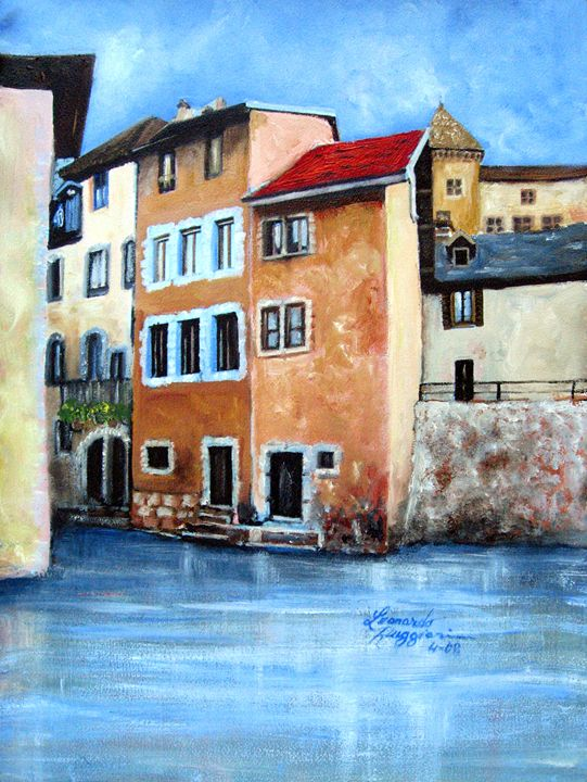 Venetian Street - Leonardo Ruggieri Fine Art Paintings