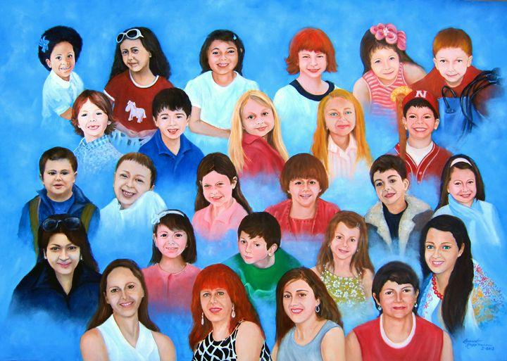 Faces of Innocence.  Faces in Heaven - Leonardo Ruggieri Fine Art Paintings