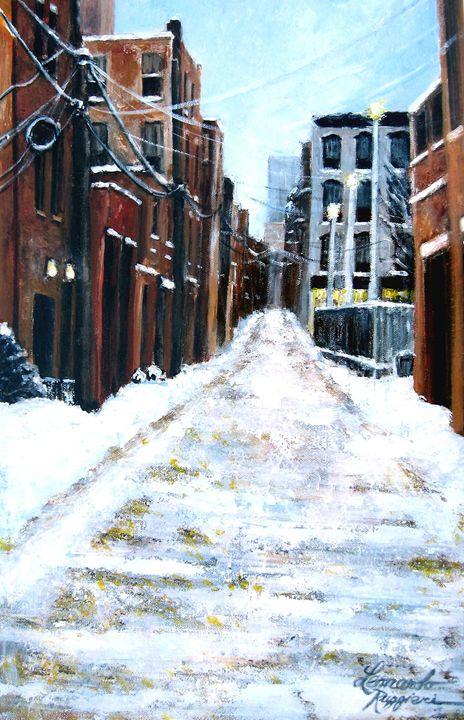 Lonely Street - Leonardo Ruggieri Fine Art Paintings