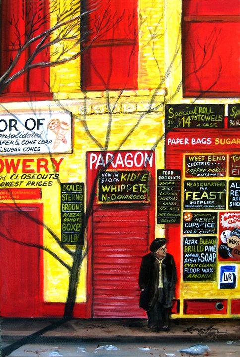 Bowery, NYC - Leonardo Ruggieri Fine Art Paintings