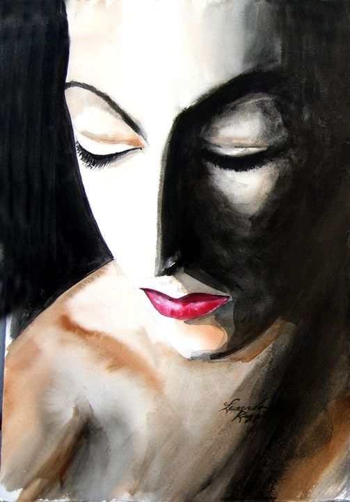 What is she thinking - Leonardo Ruggieri Fine Art Paintings