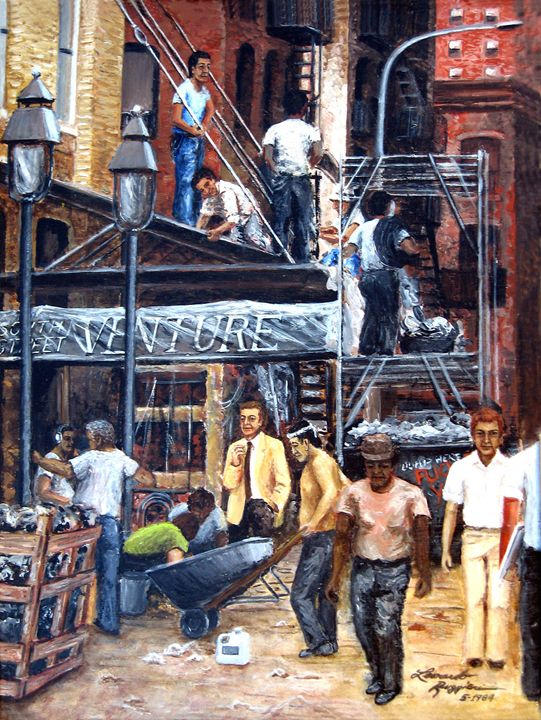 South Street Seaport - Leonardo Ruggieri Fine Art Paintings