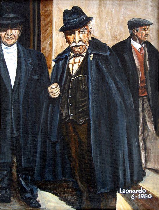 The Real Godfather - Leonardo Ruggieri Fine Art Paintings