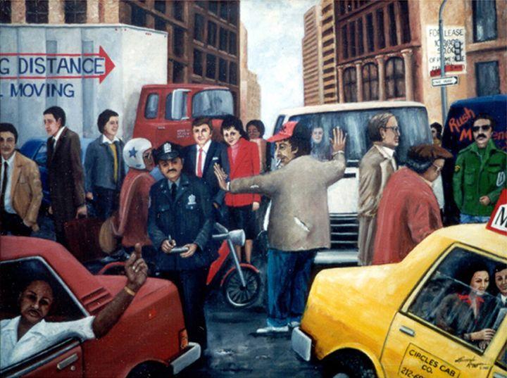 NYC Grid Lock - Leonardo Ruggieri Fine Art Paintings