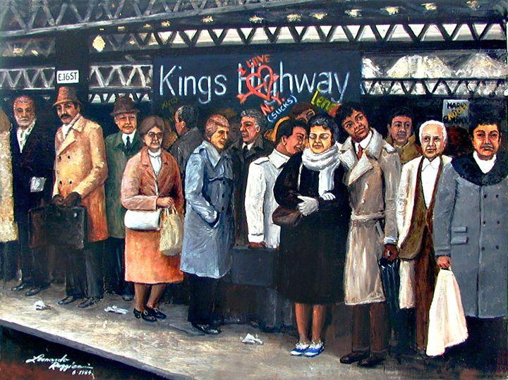 Kings Highway Subway Station - Leonardo Ruggieri Fine Art Paintings