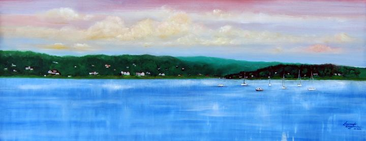 Tranquility on the Navesink River - Leonardo Ruggieri Fine Art Paintings