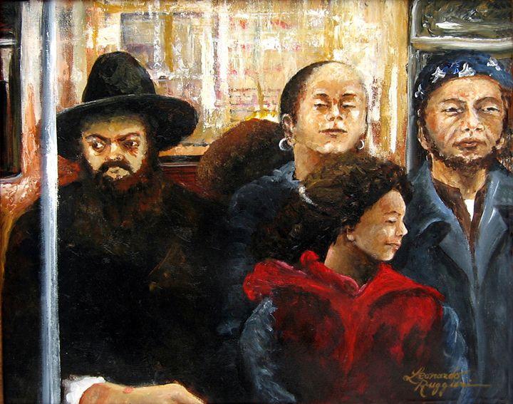 subway diversity - Leonardo Ruggieri Fine Art Paintings