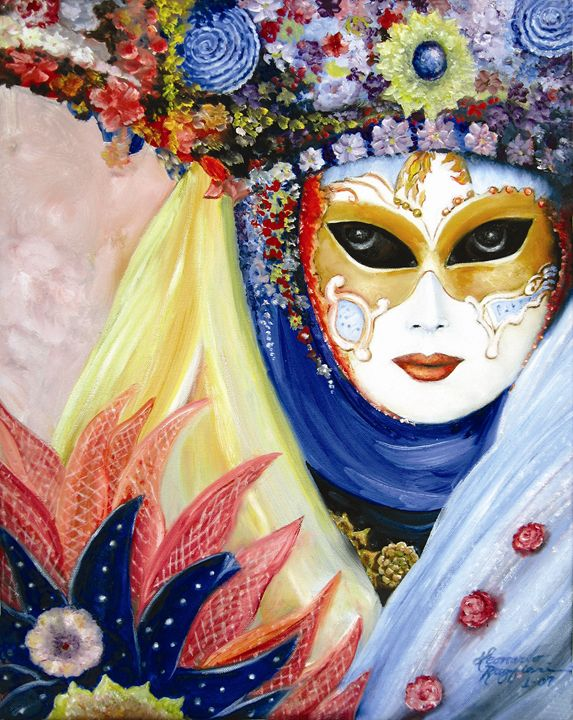 Venetian Mask I - Leonardo Ruggieri Fine Art Paintings