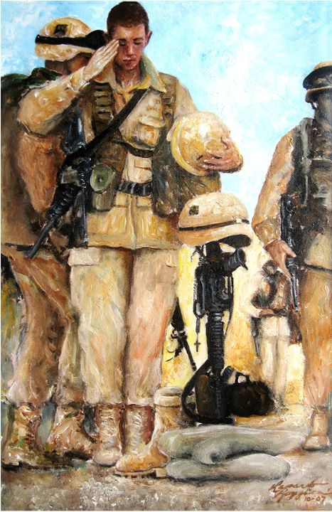 Saluting the Fallen - Leonardo Ruggieri Fine Art Paintings