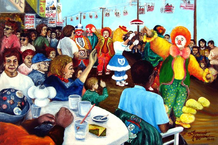 Parade of Clowns, NJ - Leonardo Ruggieri Fine Art Paintings