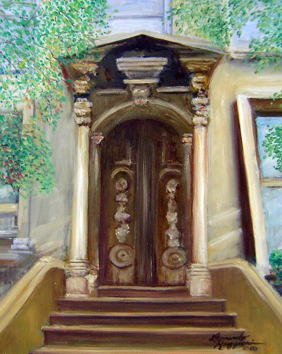 Brooklyn Doorway - Leonardo Ruggieri Fine Art Paintings