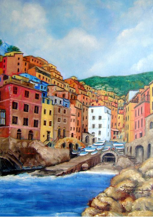 Cinque Terre - Leonardo Ruggieri Fine Art Paintings