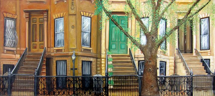 Brooklyn Brownstone Corridor - Leonardo Ruggieri Fine Art Paintings