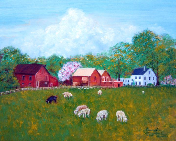 Farm in Colts Neck, NJ - Leonardo Ruggieri Fine Art Paintings