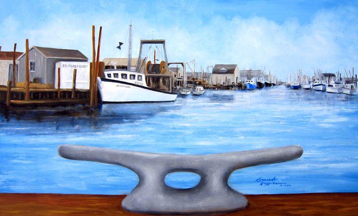 Belford Fishery - Leonardo Ruggieri Fine Art Paintings
