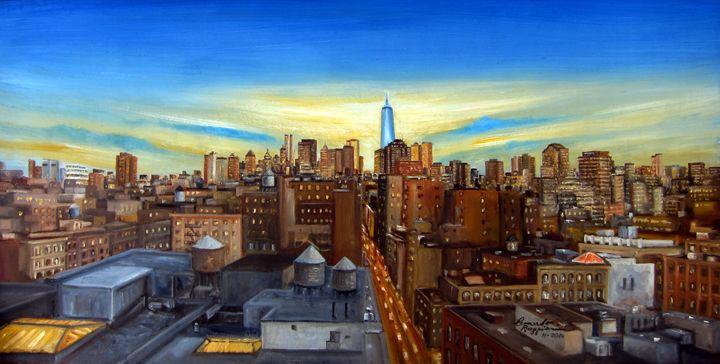SOHO Rooftops - Leonardo Ruggieri Fine Art Paintings