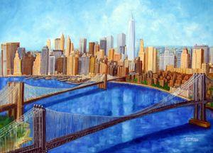 New York City Resurrection - Leonardo Ruggieri Fine Art Paintings