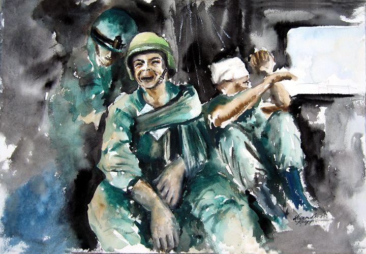 War. . what is it good for NOTHING - Leonardo Ruggieri Fine Art Paintings