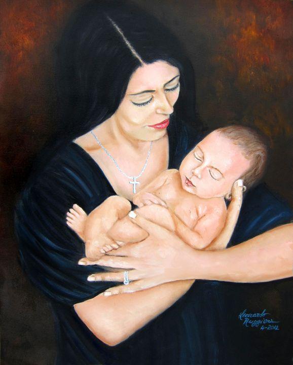 New Mom's Little Prince - Leonardo Ruggieri Fine Art Paintings