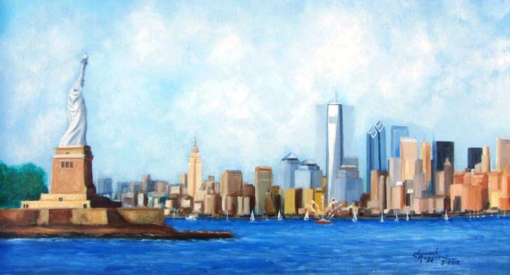New York City Rebirth - Leonardo Ruggieri Fine Art Paintings