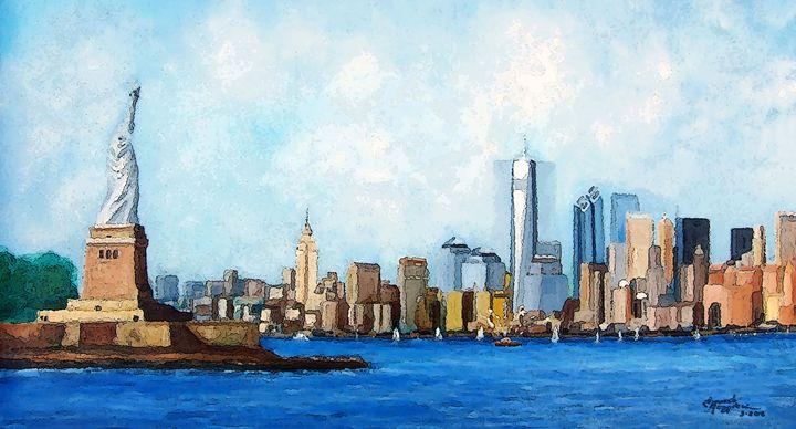 New York City Rebirth 2 - Leonardo Ruggieri Fine Art Paintings