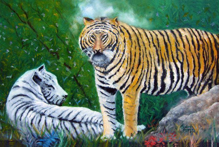 Jungle Vigilance - Leonardo Ruggieri Fine Art Paintings
