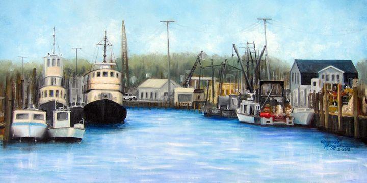 Belford Fishing Seaport NJ - Leonardo Ruggieri Fine Art Paintings
