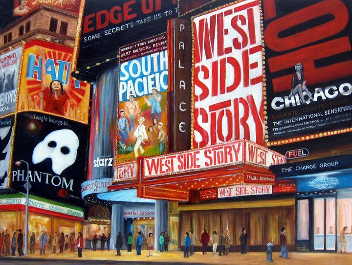 Lights On Broadway - Leonardo Ruggieri Fine Art Paintings