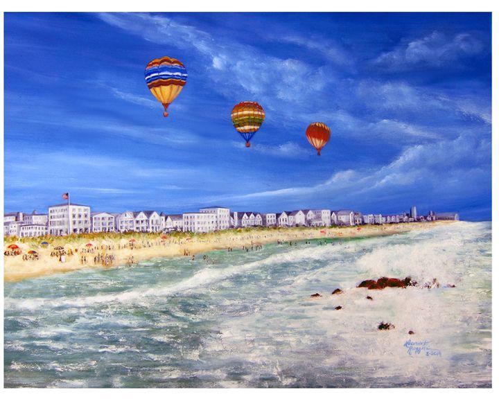 Hot Air Balooning on the NJ Shore - Leonardo Ruggieri Fine Art Paintings
