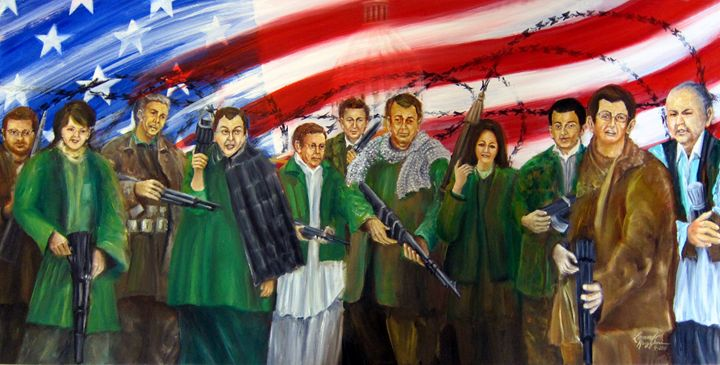 Tealibanization of America - Leonardo Ruggieri Fine Art Paintings