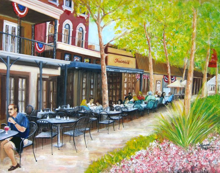 Main Street Freehold Boro NJ - Leonardo Ruggieri Fine Art Paintings