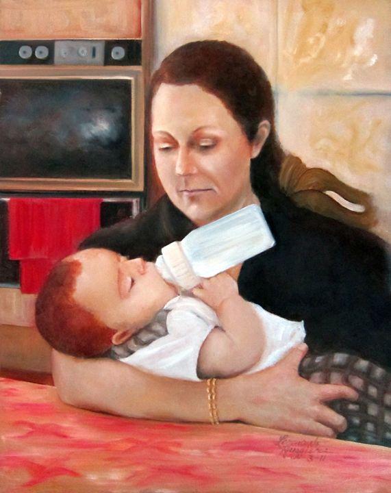 In Mother's Arms - Leonardo Ruggieri Fine Art Paintings