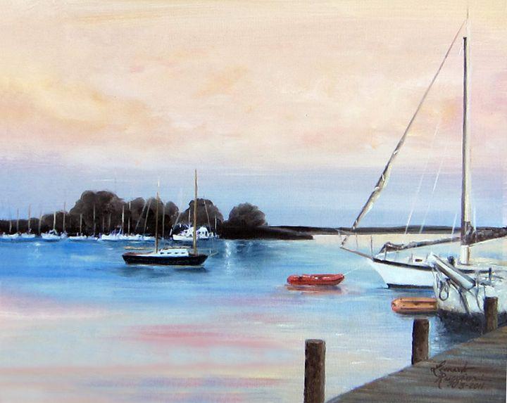 Quiet Morning on the Navsink River - Leonardo Ruggieri Fine Art Paintings