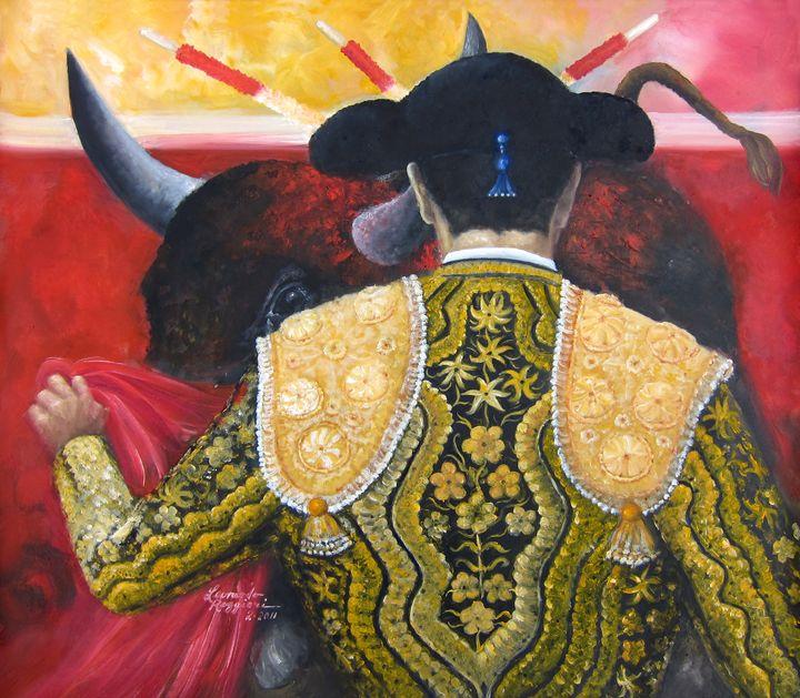 Raging Bull - Leonardo Ruggieri Fine Art Paintings