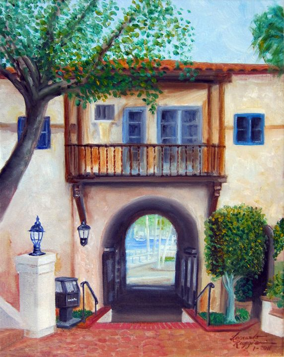 Archway to Avalon, Catalina Island - Leonardo Ruggieri Fine Art Paintings