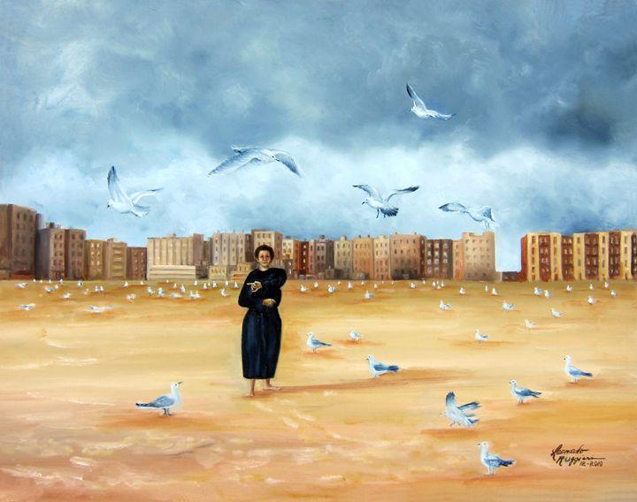 It's A Lonely City - Leonardo Ruggieri Fine Art Paintings