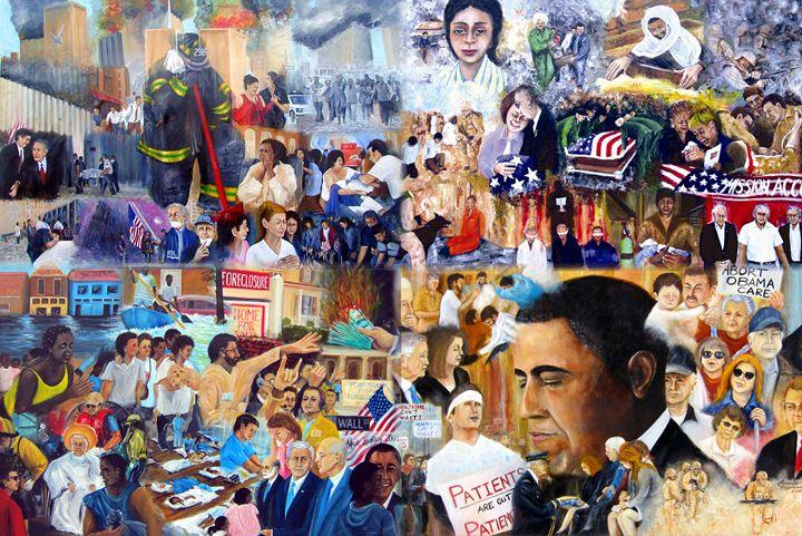 US History 21st Century - Leonardo Ruggieri Fine Art Paintings