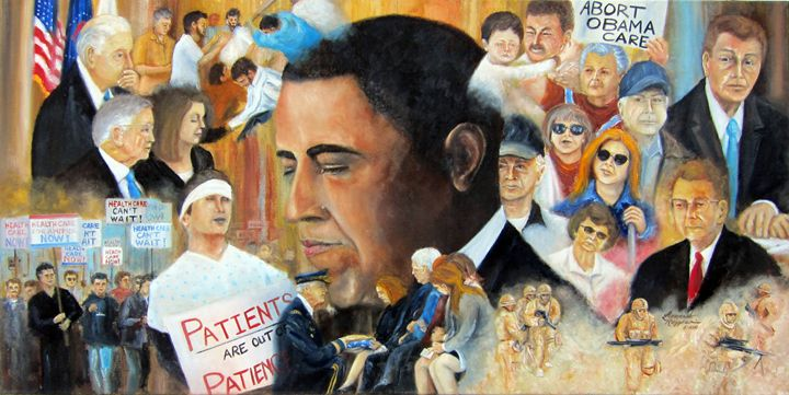 Obama's Full Plate - Leonardo Ruggieri Fine Art Paintings