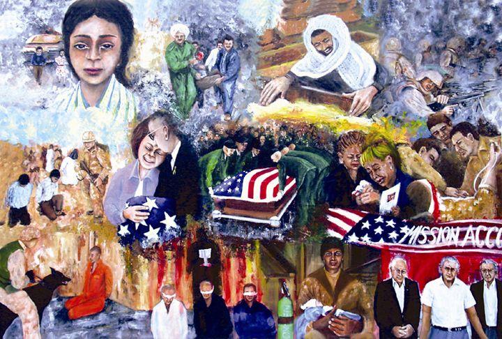 Bush's War - Leonardo Ruggieri Fine Art Paintings