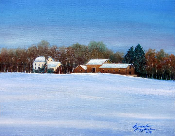 Winter Solace - Leonardo Ruggieri Fine Art Paintings